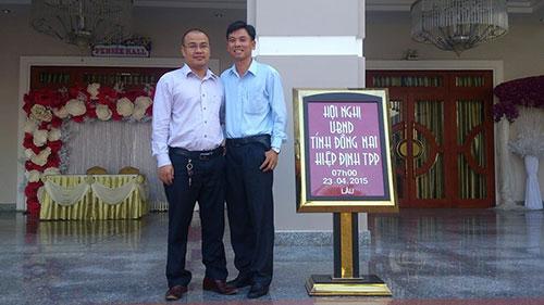 Nguyễn Ngọc Tuấn trong hội nghị UBND về hiệp định TPP